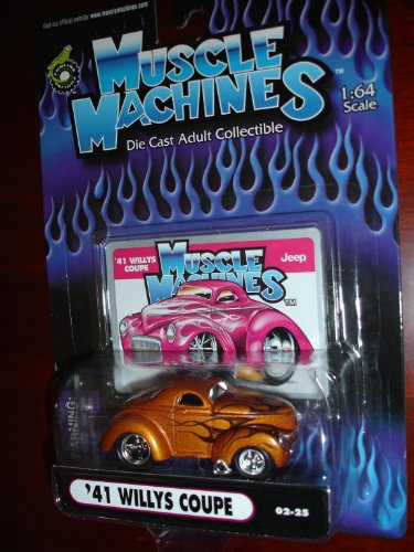 Muscle Machines 41 Willys Coupe Copper w/Black Flames