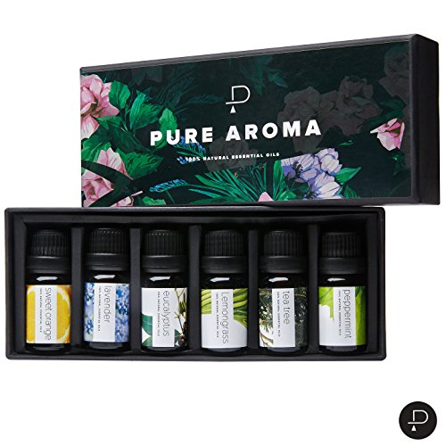 PURE-AROMA-Essential-Oils-Top-6-Aromatherapy-Oils-in-1-Box-10-Ml