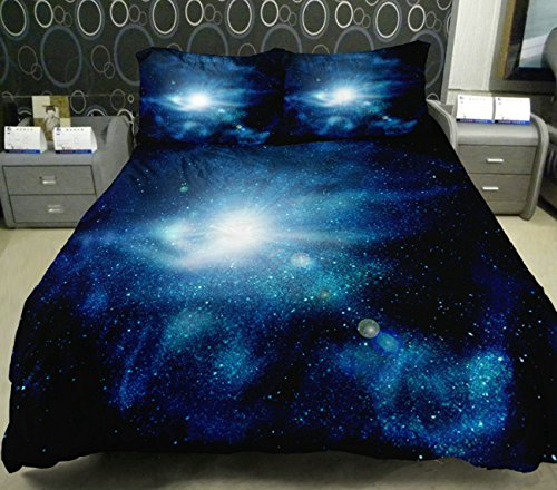 Anlye Teen Bedding The Gift Ideas 2 Sides Printing Out Space Quilt Duvet Covers Out Space Bed Sheets With 2 Throw Pillow Covers Twin front-1013810