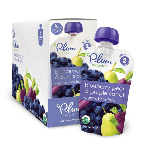 Plum Organics Baby Second Blends, Blueberry, Pear and Purple Carrot, 4.0-Ounce Pouches (Pack of 12) (Pear Juice Organic compare prices)
