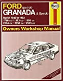 Matthew Minter Ford Granada and Scorpio ('85 to '93) Owners Workshop Manual