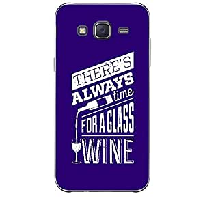Skin4gadgets Awesome Wine & Dine Quotes, Pattern 27, Color - Dark Salmon Phone Skin for SAMSUNG GALAXY J2