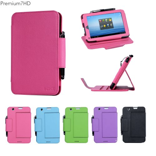 "I-Unik Nextbook 7"" Premium 7Hd 8Gb (Nx007Hd8G) Pu Leather Protection Case (08/2013 Wal-Mart Release) - (Hot Pink)"