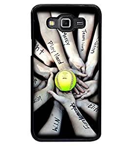 Printvisa Unity Cricket Team Holding Hands Back Case Cover for Samsung Galaxy Grand 3 G720