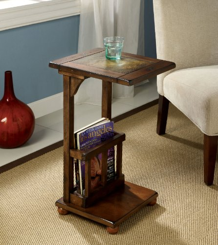 Cheap Enitial Lab Ives End Table with Magazine Rack, Antique Oak (IDF-AC093)