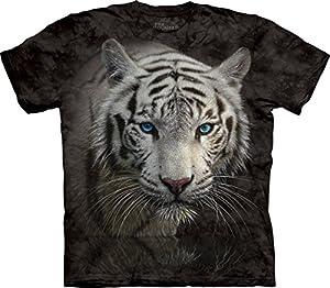 The Mountain Unisex Kinder Weisser Tiger Reflexion T Shirt von The Mountain