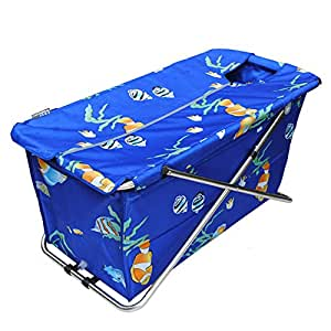 Common Tubs, Folding Bathtub, Massage Bathtub (Blue)