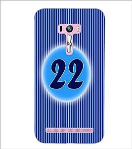 PrintDhaba Numerology Number 22 D-2580 Back Case Cover for ASUS ZENFONE SELFIE ZD551KL ULTRA (Multi-Coloured)