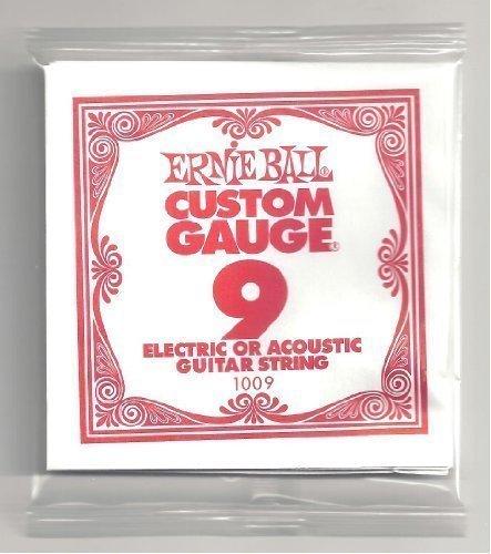 ERNIE BALL SIX PACK OF CUSTOM GAUGE 9 --1009 --  --.009 Plai