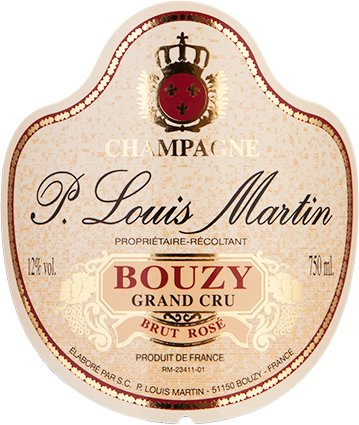 N.V. Paul Louis Martin Bouzy Grand Cru Brut Rose Champagne 750 Ml