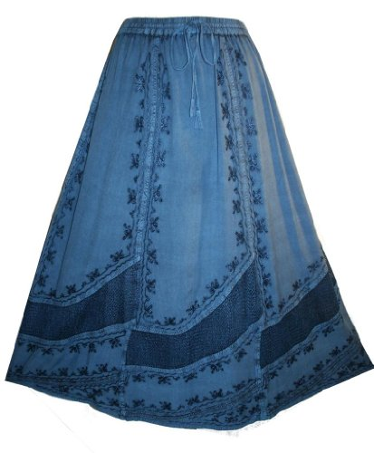 #703 Dancing Gypsy Medieval Renaissance Vintage Embroidered Net Costume Skirt