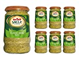 Classic Basil Pesto (Pack of 6 x 290g Glass Jars) by Sacla'