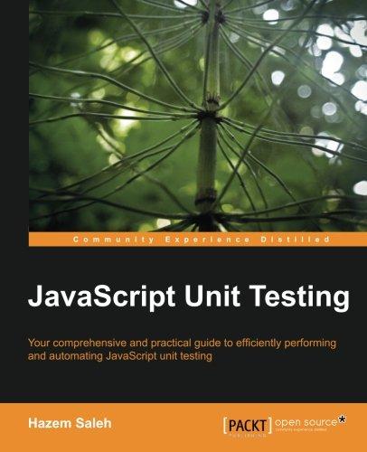 JavaScript Unit Testing 1782160620 pdf