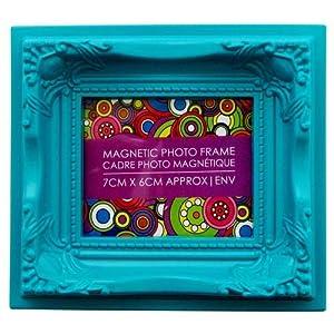 7cm x 6cm Ornate Magnetic Photo Frame - Turquoise