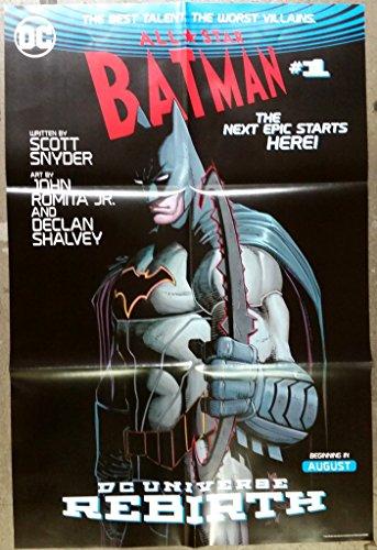DC Universe Batman Rebirth Folded Poster 24 x 36 inches Comic Con 2016 Superman, Batman, Green Lantern, Wonder Woman, The Flash & many others