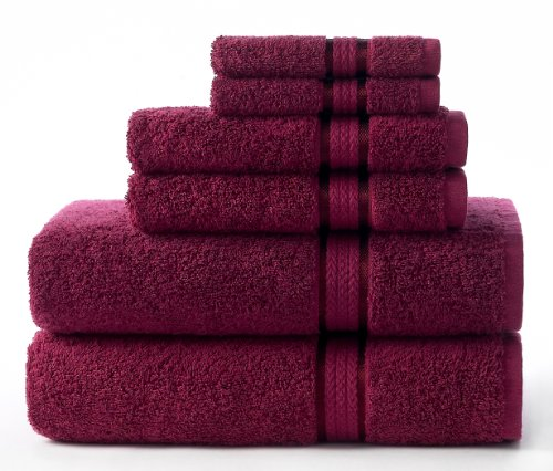 Ultra Soft Bath Towel 30x54 Burgundy - Pure Luxury 650 gram Cotton with Rayon band - Oversized Large Crisp & Highly Absorbent Ideal for every day use Easy care - 16 brilliant colors