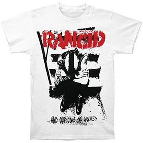 Rancid And Out Come The Wolves Monster White T-Shirt