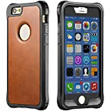 iPhone 6s Case, New Trent LV6 Rugged Protective Durable TPU iPhone 6s PU Leather case iPhone 6s and iPhone 6 - Color: Brown - NOT Compatible with iPhone 6 Plus 5.5 Inch Screen