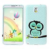 Suppion 1 Piece Cute Owl Design Soft TPU Case Cover for Samsung (Samsung Galaxy Note 3 N9000)