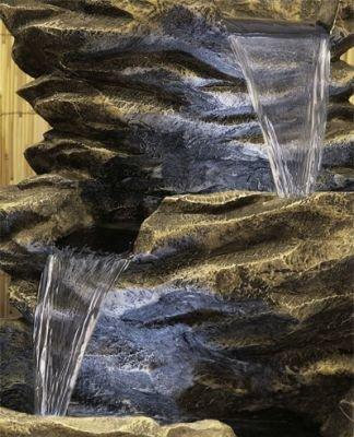 Fontaine Cascade Pierre à 4 Niveaux - avec Lumières