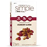 ZonePerfect Perfectly Simple Nutrition Bars, Cranberry Almond, 1.58-Ounce, 12 Count