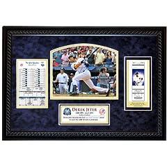 MLB New York Yankees Derek Jeter 3,000th Hit Replica Ticket Framed Collage by Steiner Sports