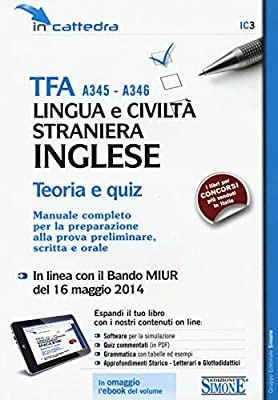 TFA A345-A346 lingua e civiltà straniera. Inglese. Teoria e quiz. Manuale completo per la preparazione alla prova preliminare... Con software di simulazione