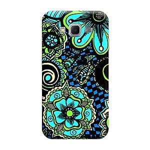 Desicase Samsung Core Prime G360 Flower Pattern 3D Matte Finishing Printed Designer Hard Back Case Cover (Multicolor)