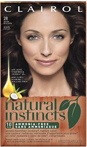 Clairol Natural Instincts, 4 / 28 Nutmeg Dark Brown, Semi-Permanent Hair Color, 1 Kit (Semi Permanent Brown Hair Dye compare prices)