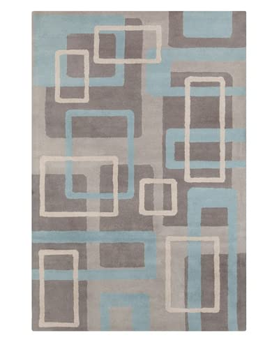 Filament Madeline Hand-Tufted Wool Rug, Grey/Blue, 5' x 7' 6
