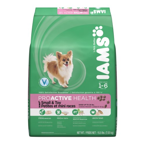 Iams Proactive Health Adult For Small & Toy Breeds Premium Dog Food 15.5 Lbs