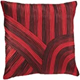 Shahenaz Home Shop Clove Tri Colour Heavy Poly Dupion Cushion Cover - Red and Maroon