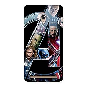 Delighted Multicolor A Only Back Case Cover for Zenfone 6
