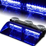 XT AUTO Car 16-led 18 Flashing Mode Emergency Vehicle Dash Warning Strobe Flash Light Blue