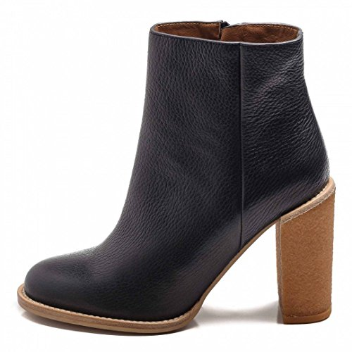 See By Chloè Stivaletti Africa Calf Black 100 mm Honey Crepe-37,5