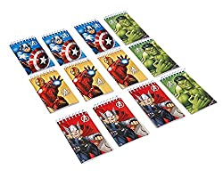 American Greetings 12 Count Avengers Notepads, Mini, Multicolored
