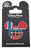 Disney Pin - Mickey Icon Norway Flag Lattice