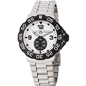TAG Heuer Men's WAH1011.BA0854 Formula 1 Grande Date White Dial Stainless Steel Watch by TAG Heuer