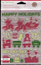Martha Stewart Crafts - Holiday - Clear Acrylic Stamps - Vintage