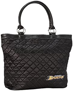 NHL Anaheim Ducks Quilted Tote, Black by Pro-FAN-ity Littlearth