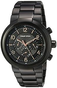 Philip Stein Men's 'Active' Quartz Stainless Steel Casual Watch, Color:Black (Model: 32-ABRG-BSS)
