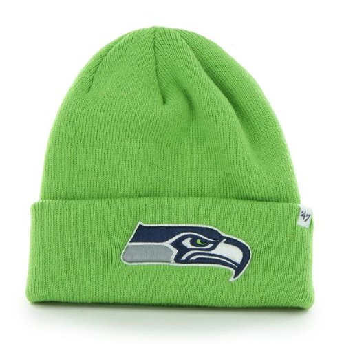 Seattle-Seahawks-Lime-Green-Cuff-Beanie-Hat-NFL-Cuffed-Knit-Toque-Cap