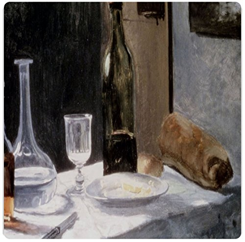 "Rikki Knighttm Claude Monet Art Still Life With Bottles And Knives Design On 8"" X 8"" High Definition Museum Quality Almunimum Print - Metal Art Print - With Floating Block Wall Hangers (Proudly Made In The Usa)"
