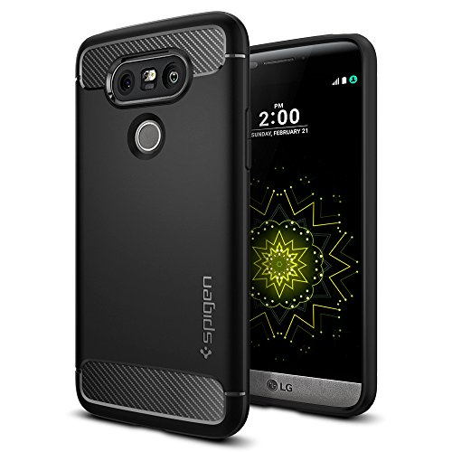 LG G5 Case, Spigen® [Rugged Armor] Resilient [Black] Ultimate protection from drops and impacts for LG G5 (2016) – (A18CS20128)