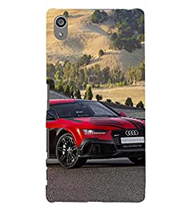 Vizagbeats Red Audi Car Back Case Cover for Sony Xperia Z5 Premium