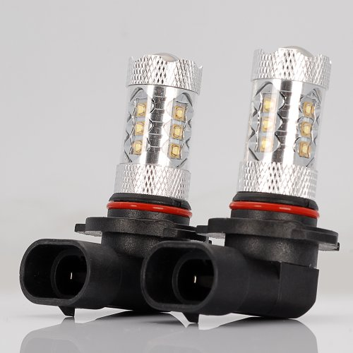 2X High Power 80W Xenon White Cree H10 9145 Led Fog Light Drl Daytime Driving Running Lamp Blub For Cadillac Chevrolet Dodge Gmc Ford Jeep
