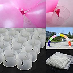 Fans 50pcs Decorative Balloon Rings Balloon Arch Folder Convenient Clips Party Supplier 1.4\'\' X 1.08\'\'