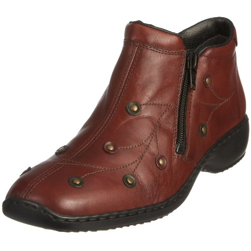 Rieker Women's Doro L3889 Red Combi Ankle Boot L3889/35 6 UK