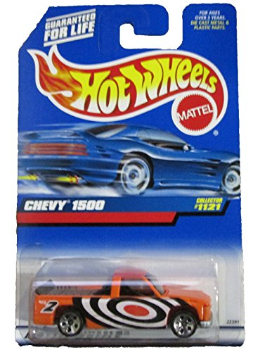 Hot Wheels #1121 Chevy 1500 Orange 5 Hole Wheels 1:64 Scale - 1