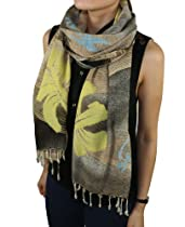 FandS - 916A Hand-made Noblesse series Fashion Scarf | One Size | Khaki Color